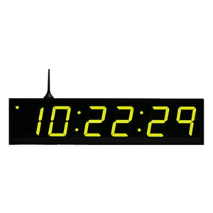 wifi clock 6 digit green
